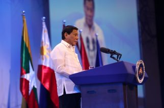 President Rodrigo Roa Duterte delivers a message during the opening ceremony of the 30th Association of Southeast Asian Nations (ASEAN) Summit at the Philippine International Convention Center in Pasay City, Philippines on April 29, 2017.
