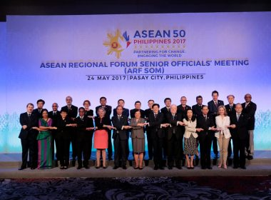 DFA Assistant Secretary Barber-De La Vega (center) with the ARF Senior Officials and the ASEAN Deputy Secretary-General for the ASEAN Political-Security Community
