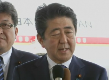 Japanese Prime Minister Shinzo Abe said on Thursday (May 25) that he expected the issue of North Korean missile threat and threat of terrorism of the bombing in Manchester heads the agenda at the Group of Seven leaders' summit in Italy.(photo grabbed from Reuters video)