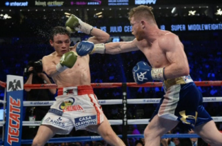 Canelo Alvarez dominated and easily defeated fellow Mexican Julio Cesar Chavez, Jr, earning a unanimous decision win Saturday (May 6) night at the T-Mobile Center in Las Vegas.(photo grabbed from Reuters video)