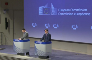 The European Commission (EC) imposed a fine of 110 million euros (122 million U.S. dollars) on Facebook on Thursday for providing misleading information about WhatsApp takeover.(photo grabbed from Reuters video)