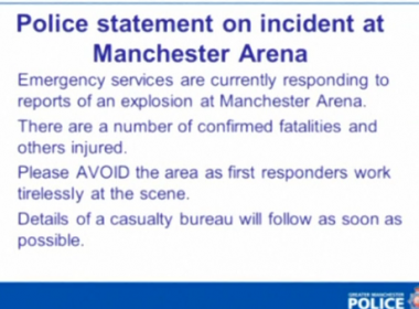British police said there were a number of fatalities in a reported explosion at an Ariana Grande concert in the northern English city of Manchester on Monday (May 22).(photo grabbed from Reuters video)