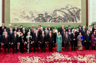 The family photo of the One Belt One Road (OBOR) Forum which was participated in by world leaders, including Chinese President Xi Jinping and Russian President Vladimir Putin.  Philippine president Rodrigo Duterte is also in the photo.  (Photo courtesy Presidential Communications Office)