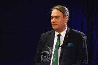 Panamanian Ambassador to the Philippines, H.E. Rolando Guevara Alvarado, during his recent visit to the Eagle Broadcasting Corporation (EBC), on May 8, 2017.  (Eagle News Service)