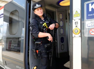 Armed police will patrol trains across Britain for the first time, British Transport Police said on Thursday (May 25). Photo grabbed from Reuters video file.