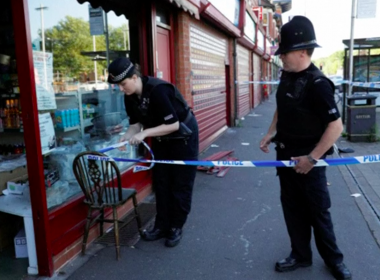 British police arrested a man on Friday (May 26) in the Manchester suburb of Moss Side, the tenth person to be taken into custody in connection with Monday night's attack. Photo grabbed from Reuters video file.