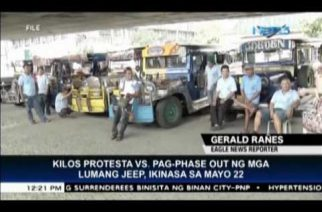 Another jeepney transport strike set for Monday
