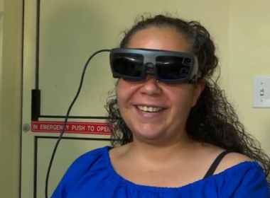 More than three years ago, Julissa Marquez was rendered blind from a near fatal stabbing. Doctors said she would never see again. Today, with help from a team of doctors at the New York Eye and Ear Infirmary of Mount Sinai and electronic glasses, Marquez's vision is nearly 20/20.(photo grabbed from Reuters video)