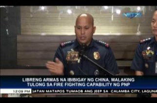 China to give free firearms to the PNP