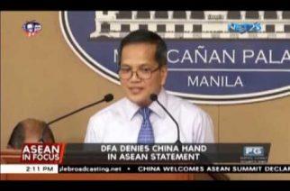 DFA denies China hand in ASEAN statement