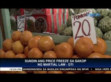 DTI implements price freeze of basic commodities in Mindanao