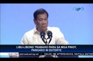 Duterte promises thousands of jobs for Filipinos on Labor Day