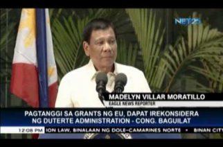 Duterte should reconsider decision on EU grants, says Ifugao Representative