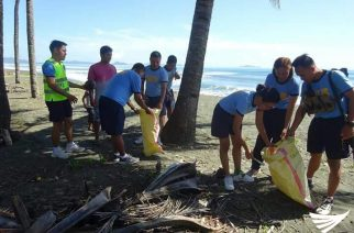 Personnel ng PNP Madrid Police Station nagsagawa ng clean up drive
