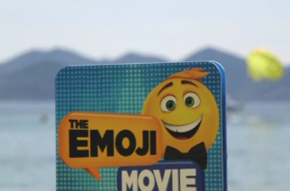 T.J. Miller, star of 'The Emoji Movie', inadvertently made a splash on the eve of the 70th Cannes Film Festival on Tuesday (May 16).(photo grabbed from Reuters video)