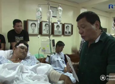 Featured video:  President Duterte visits soldiers and policemen wounded in Marawi fighting in Iligan City hospital