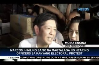 Former Senator Marcos asks SC to appoint hearing officers for his electoral protest
