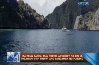 Iba pang bansa, may travel advisory na rin sa Palawan; PNP, pinawi ang pangamba ng publiko