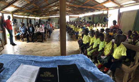 Bringing God's words to the people in Haiti.  (Eagle News Service)