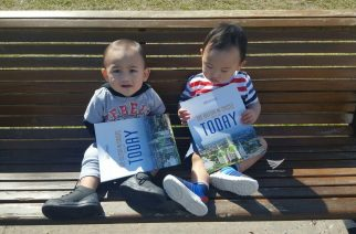 These two cute toddlers hold special copies of God's Message magazine of the Iglesia Ni Cristo for all to see.  (Eagle News Service)