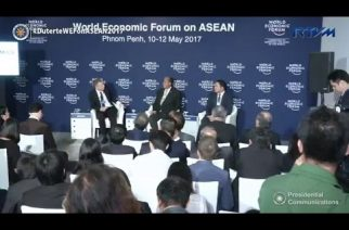 Joint cabinet presentation of 'DuterteNomics' on the opening of WEF on ASEAN 2017