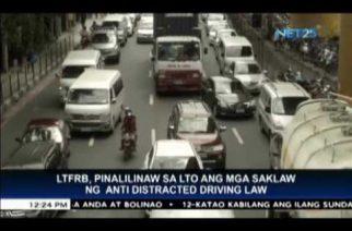 LTFRB to clarify scope of Anti-Distracted Driving Law