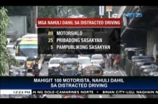 MMDA arrests more than 100 motorists due to distracted driving