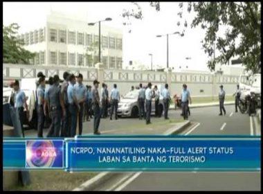 NCRPO, nananatiling naka-full alert status laban sa banta ng terorismo