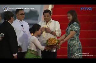 President Duterte arrives in Cambodia for his state-visit