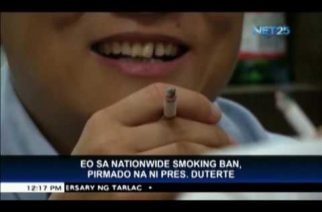 President Duterte signs law banning smoking in public places nationwide