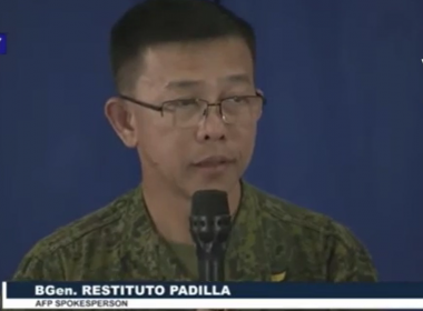 Armed Forces of the Philippines spokesperson Brig. General Restituto Padilla