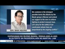 Senators back President Duterte's declaration of martial law in Mindanao