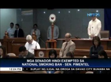 Senators not exempted from the national smoking ban – Sen. Pimentel