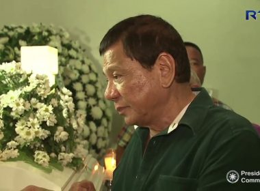 Video:  Duterte visits wake of slain gov't forces, civilian killed in Marawi fighting