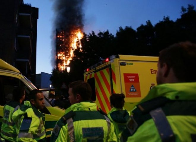 News in photos:  London tower fire