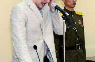 """(FILES) This file picture taken and released from North Korea's official Korean Central News Agency (KCNA) on March 16, 2016 shows the trial of arrested US student Otto Frederick Warmbier (L) at the Supreme Court in Pyongyang. North Korea on June 23, 2017 denied it had tortured or mistreated Otto Warmbier, the US student who died after being released in a coma from the North. / AFP PHOTO / KCNA / KCNA /  - South Korea OUT / REPUBLIC OF KOREA OUT   ---EDITORS NOTE--- RESTRICTED TO EDITORIAL USE - MANDATORY CREDIT """"AFP PHOTO/KCNA VIA KNS"""" - NO MARKETING NO ADVERTISING CAMPAIGNS - DISTRIBUTED AS A SERVICE TO CLIENTS THIS PICTURE WAS MADE AVAILABLE BY A THIRD PARTY. AFP CAN NOT INDEPENDENTLY VERIFY THE AUTHENTICITY, LOCATION, DATE AND CONTENT OF THIS IMAGE. THIS PHOTO IS DISTRIBUTED EXACTLY AS RECEIVED BY AFP.  /"""