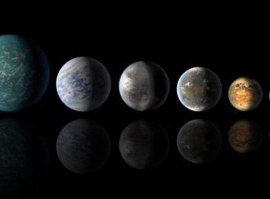 "This NASA  image obtained July 24, 2015 shows a newly discovered exoplanet, Kepler-452b, which comes the closest of any found so far to matching our Earth-sun system. This artist's conception of a planetary lineup shows habitable-zone planets with similarities to Earth: from left, Kepler-22b, Kepler-69c, the just announced Kepler-452b, Kepler-62f and Kepler-186f. Last in line is Earth itself. AFP PHOTO/NASA/JPL-CALTECH  =  RESTRICTED TO EDITORIAL USE / MANDATORY CREDIT: ""AFP PHOTO HANDOUT-NASA/JPL-CALTECH/""/ NO MARKETING - NO ADVERTISING CAMPAIGNS / DISTRIBUTED AS A SERVICE TO CLIENTS= / AFP PHOTO / NASA / HO"