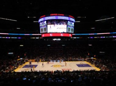 LOS ANGELES, CA - NOVEMBER 02: General view of the arena during the game between the Los Angeles Clippers and the Los Angeles Lakers at Staples Center on November 2, 2012 in Los Angeles, California. The Clippers won 105-95. NOTE TO USER: User expressly acknowledges and agrees that, by downloading and or using this photograph, User is consenting to the terms and conditions of the Getty Images License Agreement.   Stephen Dunn/Getty Images/AFP