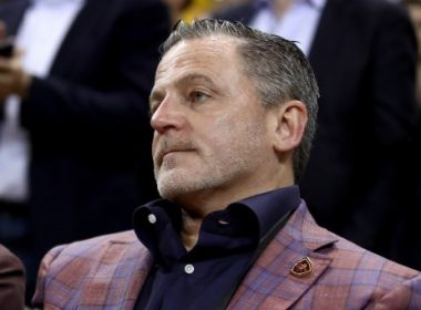 OAKLAND, CA - JUNE 01: Cleveland Cavaliers owner Dan Gilbert looks on during Game 1 of the 2017 NBA Finals at ORACLE Arena on June 1, 2017 in Oakland, California. NOTE TO USER: User expressly acknowledges and agrees that, by downloading and or using this photograph, User is consenting to the terms and conditions of the Getty Images License Agreement.   Ezra Shaw/Getty Images/AFP