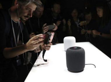 SAN JOSE, CA - JUNE 05: A prototype of Apple's new HomePod is displayed during the 2017 Apple Worldwide Developer Conference (WWDC) at the San Jose Convention Center on June 5, 2017 in San Jose, California. Apple CEO Tim Cook kicked off the five-day WWDC with announcements of a a new operating system, a new iPad Pro and a the HomePod, a music speaker and home assistant. WWDC runs through June 9.   Justin Sullivan/Getty Images/AFP