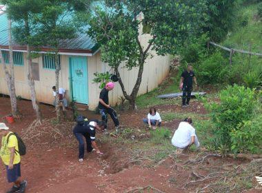 SCAN International, nagsagawa ng paglilinis sa isang paaralan sa Real, Quezon