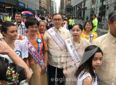 Philippine Permanent Representative to the United Nations Ambassador Teodoro Locsin Jr., joins the Philippine Independence Day Celebration in New York.  (Eagle News Service.  Photo by Des Cabangon, EBC New York)