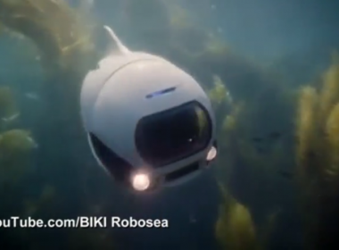 Technology company creates underwater robot fish that allows users to explore and film underwater worlds(photo grabbed from Reuters video