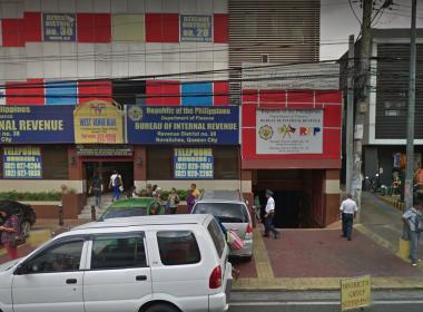 The Bureau of Internal Revenue regional district office no. 28 in Quezon City.  (Photo courtesy google maps)