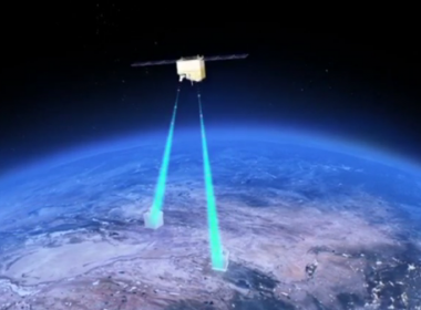 A team of Chinese scientists have realized the satellite-based distribution of entangled photon pairs over 1,200 kilometers, with photon pairs demonstrating to be still entangled after traveling long distances.(photo grabbed from Reuters video)