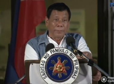 Philippines' President Rodrigo Duterte on Tuesday (June 20) visited a school where people from Marawi who fled Islamist militants are being housed and apologised for declaring martial law and the damage done by street battles and government air strikes in Marawi City.(photo grabbed from Reuters video)