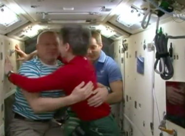 The International Space Station's latest expedition officially began on Friday (June 2) after Flight Engineers Oleg Novitskiy of Roscosmos and Thomas Pesquet of the European Space Agency left the space station for earth. Photo grabbed from Reuters video file.