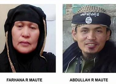The Maute family. Photos c/o Cebu City Police Office