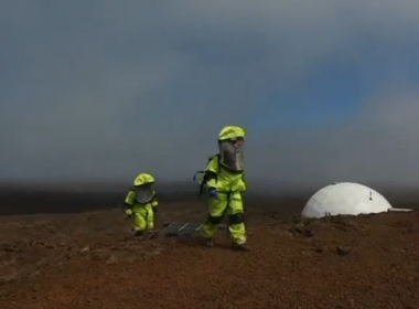 Six scientists have crossed the halfway point of an eight month stint in a dome perched atop a remote volcano in Hawaii where they are living in isolation to simulate life for astronauts traveling to Mars, the University of Hawaii said. Photo grabbed from Reuters video file.