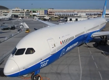 Boeing launched a new version of its 737 MAX jetliner as French President Emmanuel Macron opened the Paris Airshow on Monday (June 19). Photo grabbed from Reuters video file.
